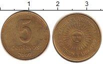 Изображение Дешевые монеты Аргентина 5 сентаво 2009 Латунь XF-