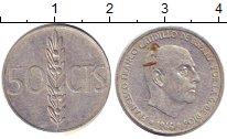 Изображение Дешевые монеты Испания 50 сентим 1966 Алюминий F