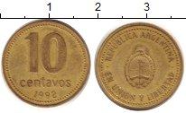 Изображение Дешевые монеты Аргентина 10 сентаво 1992 Бронза VF