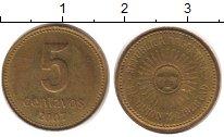 Изображение Дешевые монеты Аргентина 5 сентаво 2007