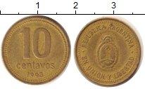 Изображение Дешевые монеты Аргентина 10 сентаво 1993 Латунь VF+