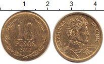 Изображение Дешевые монеты Чили 10 песо 2012 Латунь XF