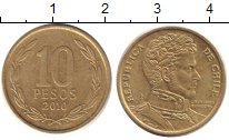 Изображение Дешевые монеты Чили 10 песо 2010