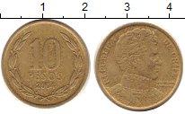 Изображение Дешевые монеты Чили 10 песо 2004 Латунь VF