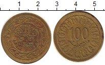 Изображение Дешевые монеты Тунис 100 миллим 1960 Латунь VF+