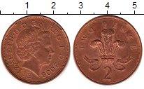 Изображение Барахолка Великобритания 2 пенса 2006 сталь с медным покрытием XF