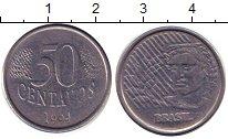 Изображение Дешевые монеты Бразилия 50 сентаво 1994 Медно-никель VG