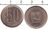 Изображение Дешевые монеты Венесуэла 50 сентим 2007 Сталь XF