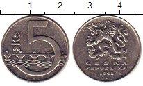Изображение Дешевые монеты Чехия 5 крон 1993 Медно-никель VF+