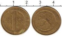 Изображение Дешевые монеты Финляндия 1 марка 1993 Латунь XF