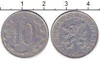 Изображение Дешевые монеты Чехословакия 10 хеллеров 1954 Алюминий VG