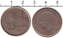 Изображение Дешевые монеты Испания 25 песет 1980 Медно-никель VF-