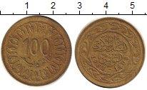 Изображение Дешевые монеты Тунис 100 миллим 1983 Латунь VF+