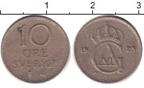 Изображение Дешевые монеты Швеция 10 эре 1973 Медно-никель XF