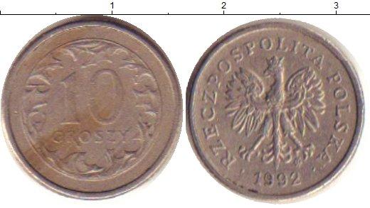 Картинка Дешевые монеты Польша 10 грош Медно-никель 1992