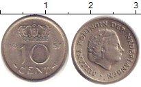 Изображение Дешевые монеты Нидерланды 10 центов 1957 Медно-никель XF