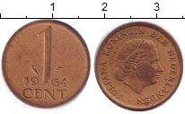 Изображение Барахолка Нидерланды 1 цент 1964 Медь XF