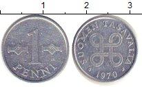 Изображение Барахолка Финляндия 1 пенни 1970 Алюминий VF