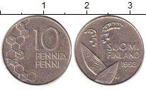 Изображение Барахолка Финляндия 10 пенни 1993 Медно-никель VF