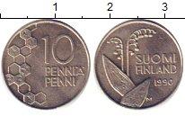 Изображение Дешевые монеты Финляндия 10 пенни 1990 Медно-никель VF