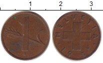 Изображение Дешевые монеты Швейцария 1 рапп 1951 Медь VF+