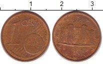 Изображение Дешевые монеты Италия 1 евроцент 2012 сталь с медным покрытием VF+