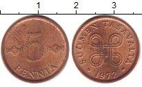 Изображение Дешевые монеты Финляндия 5 пенни 1972 Медь VG