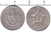 Изображение Дешевые монеты Куба 1 сентаво 1986 Алюминий XF