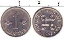 Изображение Барахолка Финляндия 1 марка 1957 Железо VF+