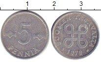 Изображение Дешевые монеты Финляндия 5 пенни 1979 Алюминий XF-