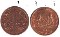 Изображение Барахолка Сингапур 1 цент 1994 Медь VF