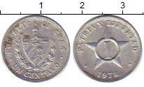 Изображение Дешевые монеты Куба 1 сентаво 1973 Алюминий EF