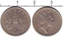 Изображение Барахолка Великобритания 5 пенсов 1990 Медно-никель VF-