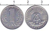 Изображение Барахолка ГДР 1 пфенниг 1968 Алюминий XF А
