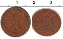 Изображение Барахолка Тринидад и Тобаго 1 цент 1966 Медь EF