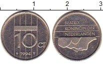 Изображение Барахолка Нидерланды 10 центов 1994 Медно-никель XF-