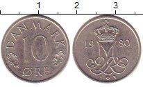Изображение Барахолка Дания 10 эре 1980 Медно-никель XF