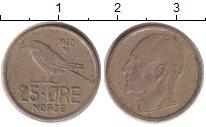 Изображение Дешевые монеты Норвегия 25 эре 1960 Медно-никель XF
