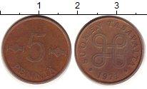 Изображение Дешевые монеты Финляндия 5 пенни 1971 Медь VF+