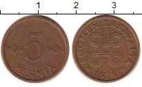 Изображение Дешевые монеты Финляндия 5 пенни 1976 Медь VF+