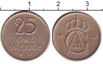 Изображение Дешевые монеты Швеция 25 эре 1962 Медно-никель XF-