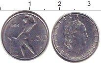 Изображение Дешевые монеты Италия 50 лир 1994 Медно-никель XF