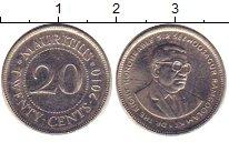 Изображение Барахолка Маврикий 20 центов 2010 Медно-никель XF