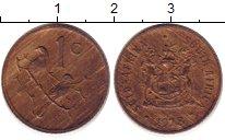 Изображение Дешевые монеты ЮАР 1 цент 1978 Медь XF-