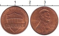 Изображение Барахолка США 1 цент 2013 сталь с медным покрытием XF