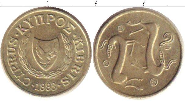 Картинка Дешевые монеты Кипр 2 милли Медно-никель 1993