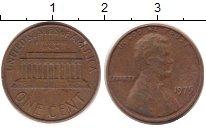Изображение Дешевые монеты США 1 цент 1975 Медь XF-