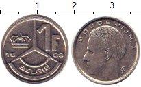 Изображение Барахолка Бельгия 1 франк 1989 Сталь покрытая никелем VF+