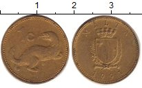 Изображение Дешевые монеты Мальта 1 цент 1991 Латунь XF-