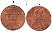Изображение Дешевые монеты США 1 цент 1994 сталь с медным покрытием VF+